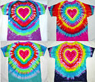 Hand Dyed ORIGINAL CUSTOM HEART on BOTH SIDES Tie Dye T-Shirt Tye Die hippie NEW