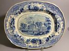Enoch wood&Son blue TransferWare Harvard-University Platter Tray 17.5
