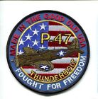 REPUBLIC P-47 THUNDERBOLT WW2 USAF ARMY AIR CORPS FIGHTER SQUADRON PATCH OD