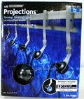 Gemmy Lightshow PROJECTIONS  BLUE LED Turning Swirling Lights 8 Count  NEW