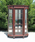 Huge~ Victorian Mahogany Bow Front China Cabinet Paw Feet Attr. RJ Horner c1890