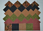 ELEGANT EARTH TONE PAISLEY ON BLACK GROUPING 4 Inch Quilt Squares 50