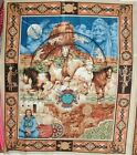 1 Yd Southwestern Quilt Fabric Wall Hanging Panel Mustang Horses Spirits