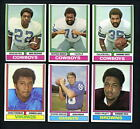 1974 Topps Parker Brothers Lot 11 cards Foreman Hayes Pruitt Snead Calvin Hill