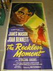 RECKLESS MOMENT ORIG US 3 SHEET MOVIE POSTER MAX OPHULS JAMES MASON
