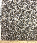 Gray Rock and Stone Fabric Landscape Crafting RJR Fabrics Cotton by Yard 16747
