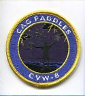 CVW-8 CARRIER AIR WING 8 CAG PADDLES NAVY LSO SQUADRON PATCH