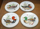 FITZ & FLOYD CANARD SAUVAGE DUCK SALAD PLATE SET OF 4