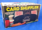 vintage automatic 2 deck card shuffler battery operated