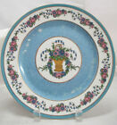 Ovington Bros Fabruque a Limoges Plate Pink/Blue Flowers In A Basket