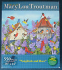 jigsaw puzzle 550pc Mary Lou Troutman Songbirds and lilacs bird houses