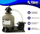 Radiant 16 Inch Above Ground Swimming Pool Sand Filter System w 75 HP Pump