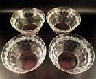 4 Hawkes Cut Glass Finger Bowls #4074-6 Diamond Band & Panels (##)