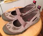Merrell Mimosa Size 7 MJ Aluminum Mary Jane Suede and Mesh Athletic Shoe Womens