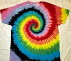 ORIGINAL CUSTOM Tie Dye Hand Dyed Hippie Spiral T-Shirt Tye Die Adult/Kids