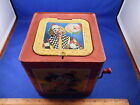 Vintage Tin Litho Mattel Jack In The Box Clown Louis Song Japan Toy 1960's