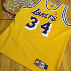 Vtg Shaquille O'Neal Los Angeles Lakers Nike Authentic Jersey 48 XL Kobe 90's