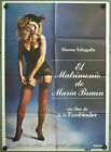 VQ33 THE MARRIAGE OF MARIA BRAUN FASSBINDER ORIGINAL 1sh SPANISH POSTER