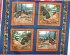 1 Yd. Wildlife Pillow Panel Quilt Fabric Wild Turkey Hunting Morning Gobblers