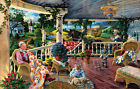 GRANDMA'S HOUSE PORCH QUILT FARM RURAL GRANDKIDS 1000 PIECE JIGSAW PUZZLE, NEW