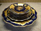 VINTAGE ECHT WEIMAR COBALT ESTATE FIND VERY RARE 8 PORCELAIN PLATES GDR GERMANY
