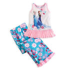 Disney Store FROZEN Elsa & Anna 2pc Pajamas Girls Size 4 Princess PJ's Gift NEW