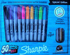 SHARPIE MULTI COLOR PEN SET FINE POINT MARKER 12 LOT w METALLIC SILVER