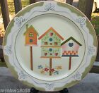 Canterbury Potteries Hand Painted Dream House Bird Houses Dinner Plate