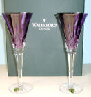 Waterford LISMORE JEWELS Amethyst Toasting Champagne Flutes Pair (2) #154064 New