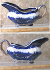 Vintage FLOW BLUE GRAVY Pitcher,Boat,MIDDLEPORT,Burgess Leigh,NONPAREIL,8