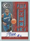 JOHN WALL 2010 11 TOTALLY CERTIFIED RED RC JERSEY AUTOGRAPH AUTO 99