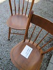 Vintage Wooden Chairs - Nichols & Stone Co. - 1950s Era - Natural Finish
