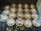 6 WEST GERMAN BMF SILVER PLATE TEACUP & SAUCER GLASS CUP lot #3