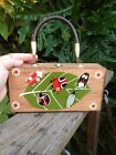 Vintage Wood Box Bugs Purse By Simon Made In Japan Cute