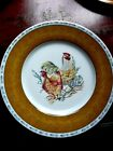 LIMOGES,FRENCH ROOSTER& HEN,SET OF 4 DINNER PLATES,MADE IN FRANCE,NEW WITH TAGS