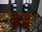2 DANISH MODERN SQUARE WOOD ACCENT LAMPS