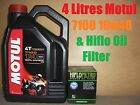 4L LITRE LTR MOTUL 7100 10W40 OIL+AND HF145 FILTER CHANGE TRX850 99 00 1999 2000