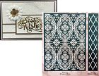 Embossing Folder FLUTED DAMASK Provo Craft Cuttlebug All Occasion Anna Griffin
