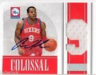 Andre Iguodala 2009-10 National Treasures Colossal Jersey Number Autograph # 49