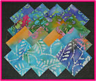40 Batik Beauty Fabric Squares Quilt blocks Kit Sewing quilting 4x4 Material