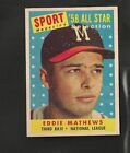 Eddie Mathews Cards and Autographed Memorabilia Guide 5