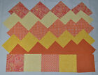 TANGY TANGERINE  LEMON YELLOW KIT 4 Inch Quilt Squares 50