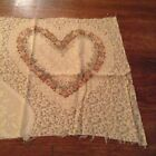 Joan Kessler for Concord Beige Hearts Fabric Stitching Calico Valentines Day