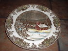 JOHNSON BROTHERS, FRIENDLY VILLAGE 'THE SCHOOL HOUSE' DINNER PLATE, EUC
