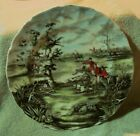 VINTAGE JOHNSON BROTHERS TALLY HO HORSE HUNTING SCENE COLLECTOR PLATE.