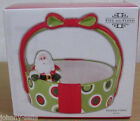 Fitz & Floyd Christmas Santa Holiday Cheer Basket Bowl