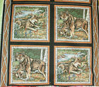 1 yd Wild Life Wolf Pillow Panel Wild Dog Lobo Spring Setting Water Stream