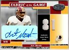 Art Monk 2002 Leaf Certified Fabric of the Game Autograph Game Used Jersey # 81