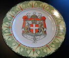 Antique Frank Beardmore & Co. Fenton National Emblems Italy White Cross Plate