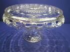 EAPG MCKEE THUMBPRINT OPENLACE CAKE STAND PLATE W/RUM WELL